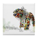 Beaded Wire Lion Tile Coaster