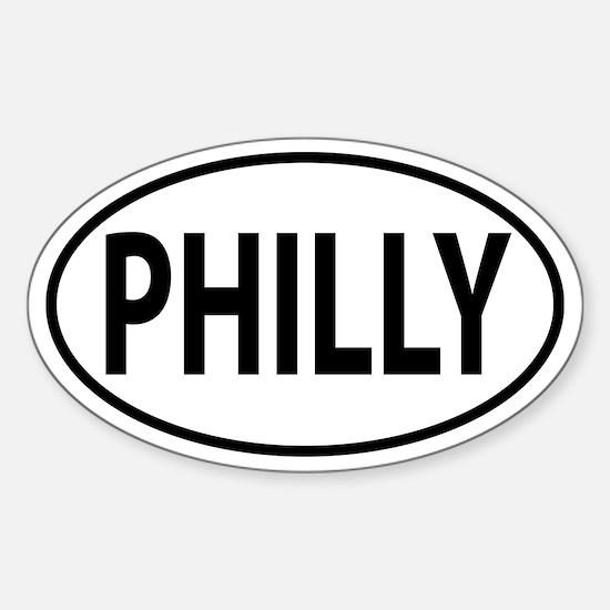 Philadelphia PHILLY Oval decal Sticker (Oval)