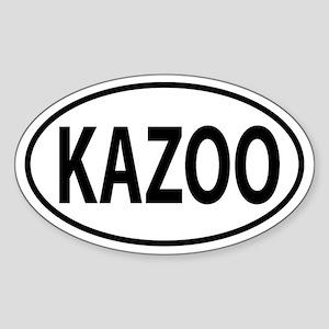 Kazoo, Kalamazoo, MI Oval decal Sticker (Oval)