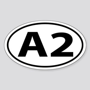 A2 Ann Arbor, MI Oval decal Sticker (Oval)