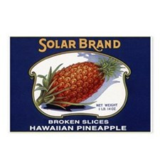 'Solar Brand' Pineapple Label Postcards (Package o