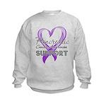 Pancreatic Cancer Kids Sweatshirt