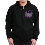 Pancreatic Cancer Zip Hoodie (dark)