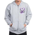 Pancreatic Cancer Zip Hoodie