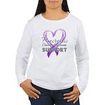 Pancreatic Cancer Women's Long Sleeve T-Shirt