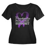 Pancreatic Cancer Women's Plus Size Scoop Neck Dar
