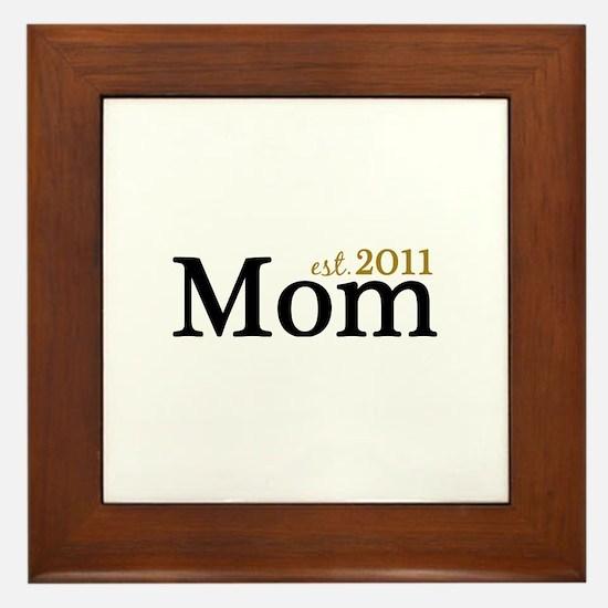 New Mom Est 2011 Framed Tile