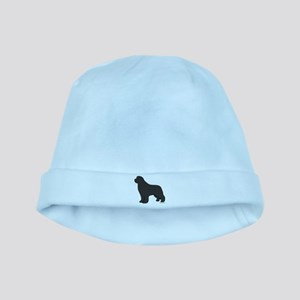 Gray Newfoundland Silhouette baby hat