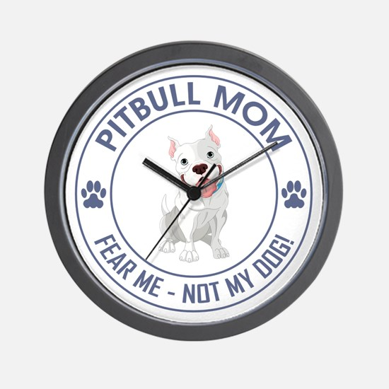 PITBULL MOM Wall Clock