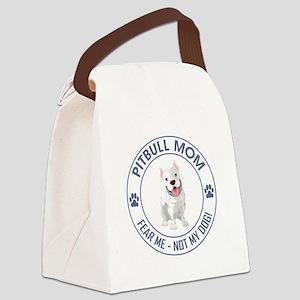 PITBULL MOM Canvas Lunch Bag
