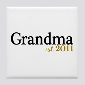 New Grandma Est 2011 Tile Coaster