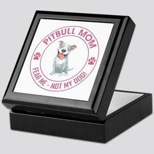 PITBULL MOM Keepsake Box