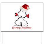Dog Christmas Yard Sign