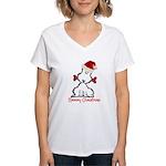 Dog Christmas Women's V-Neck T-Shirt