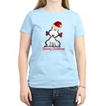 Dog Christmas Women's Light T-Shirt