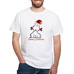 Dog Christmas White T-Shirt