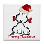 Dog Christmas Tile Coaster