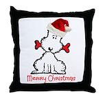 Dog Christmas Throw Pillow