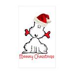 Dog Christmas Sticker (Rectangle 50 pk)