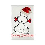 Dog Christmas Rectangle Magnet (100 pack)