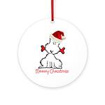 Dog Christmas Ornament (Round)