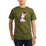 Dog Christmas Organic Men's T-Shirt (dark)