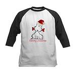 Dog Christmas Kids Baseball Jersey