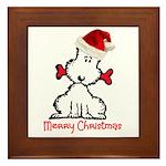 Dog Christmas Framed Tile