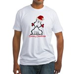 Dog Christmas Fitted T-Shirt