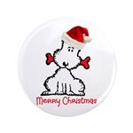 """Dog Christmas 3.5"""" Button (100 pack)"""