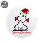 """Dog Christmas 3.5"""" Button (10 pack)"""