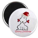 "Dog Christmas 2.25"" Magnet (100 pack)"
