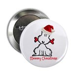"""Dog Christmas 2.25"""" Button (100 pack)"""