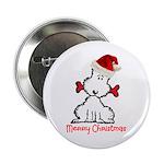 """Dog Christmas 2.25"""" Button"""