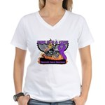 Ride Cure Pancreatic Cancer Women's V-Neck T-Shirt
