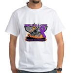 Ride Cure Pancreatic Cancer White T-Shirt