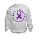 Pancreatic Cancer Month Ribbon Kids Sweatshirt