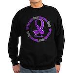 Pancreatic Cancer Month Ribbon Sweatshirt (dark)