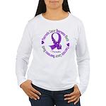 Pancreatic Cancer Month Ribbon Women's Long Sleeve