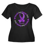 Pancreatic Cancer Month Ribbon Women's Plus Size S