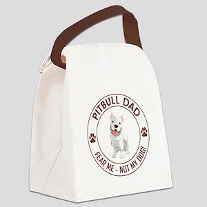 PITBULL DAD Canvas Lunch Bag