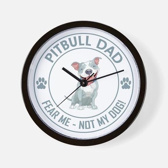 PITBULL DAD Wall Clock