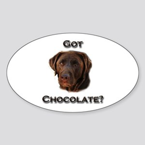 Got Chocolate? Sticker (Oval)