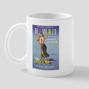 'Hawaii By Clipper' Panam Poster Mug