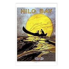 Hilo Bay vintage Hawaiian poster Postcards (Packag