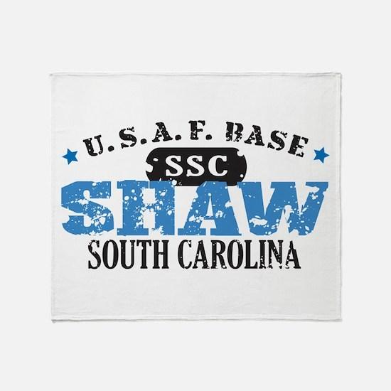 Shaw Air Force Base Throw Blanket