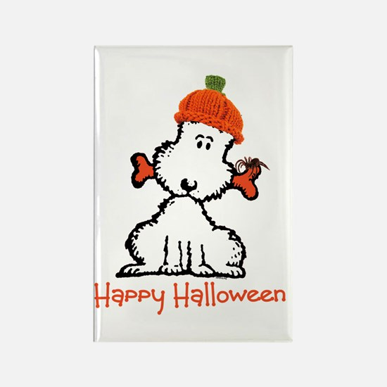 Dog Halloween Rectangle Magnet