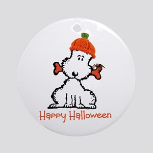 Dog Halloween Ornament (Round)