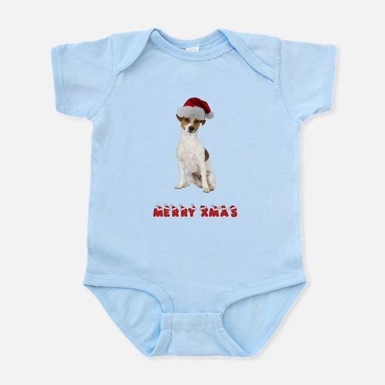 Xmas Jack Russell Terrier Infant Bodysuit