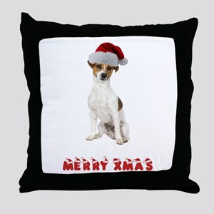 Xmas Jack Russell Terrier Throw Pillow